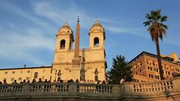 スペイン広場とトリニタ・デイ・モンティ教会 Footage