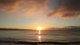 津軽海峡からの日の出 Stock Video Footage