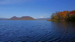 紅葉の洞爺湖と羊蹄山 Footage