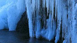 凍る滝のつらら Footage