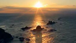 強風の襟裳岬の朝 Footage