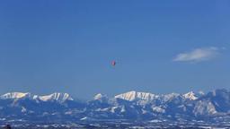 熱気球と日高山脈 Footage