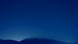 二十曲峠から富士山と星空 Footage