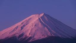河口湖からの朝焼けの富士山 Footage