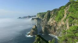 海霧の北山崎の海岸 Footage