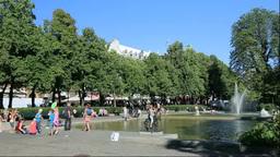 オスロ市街と公園 Footage