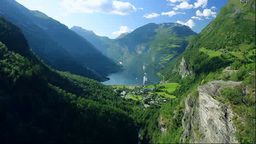 Geirangerfjord Stock Video Footage