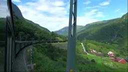 フロム山岳鉄道の車窓 Footage