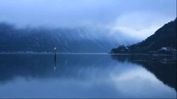 Morning view of Eidfjord Stock Video Footage