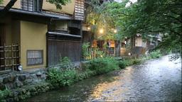 Evening at Shirakawaminamidori Stock Video Footage