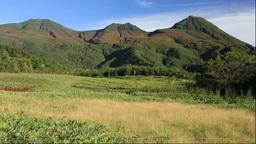 Shiretoko Mountain range in autumn Stock Video Footage