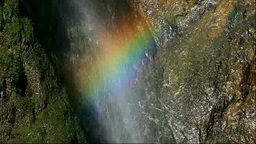 Waterfall and a rainbow Stock Video Footage