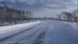 地吹雪の道 Footage
