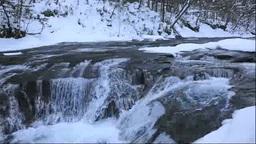 冬の白扇の滝の流れ Footage