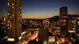 バンクーバーのビル街の夜景 Footage