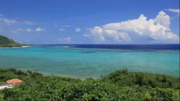 玉取崎展望台から石垣島のサンゴ礁の海 Footage