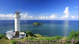 石垣島の平久保崎と平久保崎灯台 Footage