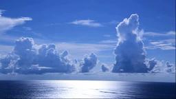 石垣島の光る海と積乱雲 Stock Video Footage