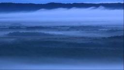 北斗のサテライト展望台から朝霧の釧路湿原 Footage