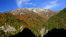 黒部ダムから紅葉の立山 Footage