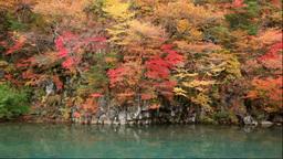 鳥海山の紅葉の法体の滝の渓谷 Footage