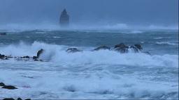 荒れる積丹の冬の海 Footage