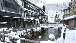冬の銀山温泉 Footage
