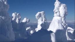 蔵王の樹氷 stock footage