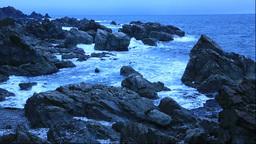 冬の須郷岬の夜明 Stock Video Footage