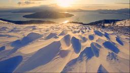 美幌峠から見る朝の屈斜路湖とシュカブラ Footage