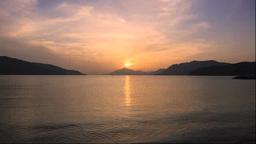 伯方島より瀬戸内海の夕陽 Footage