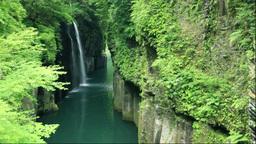 高千穂峡の真名井の滝 Stock Video Footage