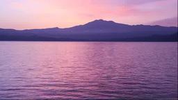 朝焼けの田沢湖と秋田駒ヶ岳 Footage