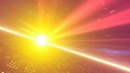 オレンジの光線と地平線 Footage