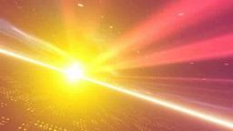 オレンジの光線と地平線 Stock Video Footage