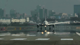 A Plane Landing stock footage