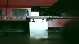 スライドする機械 stock footage