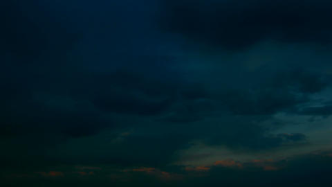 timelapse with morning cloudy sky Stock Video Footage