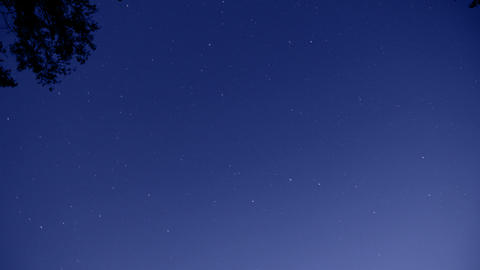 timelapse with stars on night sky Stock Video Footage