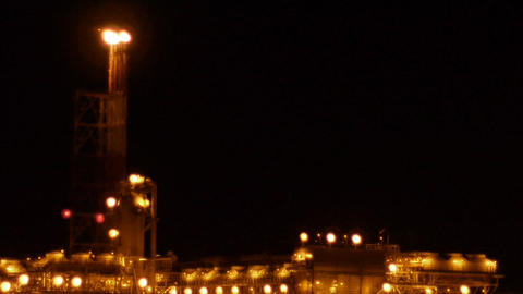 LNG plant sequence Stock Video Footage