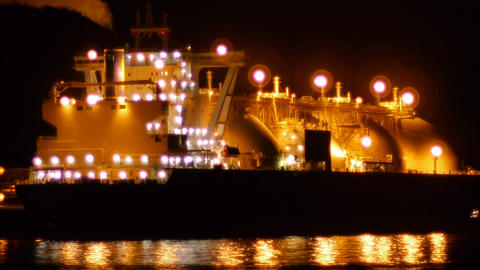 LNG tanker 003 Stock Video Footage