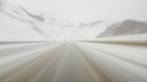 Mountain road loop 3 Stock Video Footage