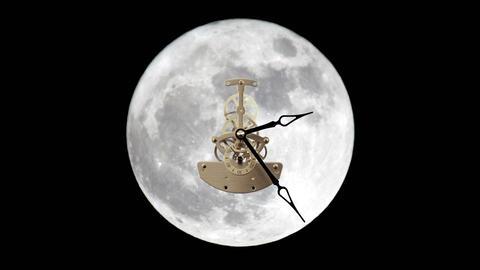 lunar clock, Timelapse Stock Video Footage