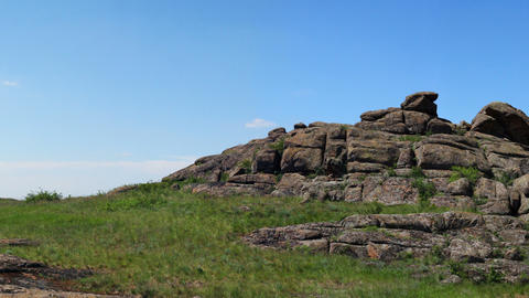 Ukrainian wildlife preservation, (reserve Stone mogyla) Stock Video Footage