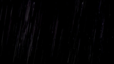 Rain isolated on black Footage