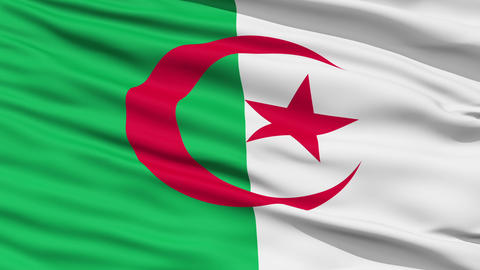Waving national flag of Algeria Stock Video Footage