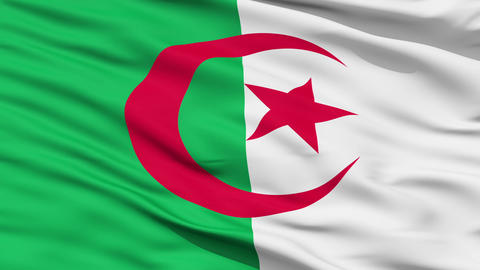 Waving national flag of Algeria Animation
