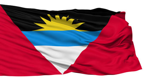 Waving national flag of Antigua and Barbuda Stock Video Footage