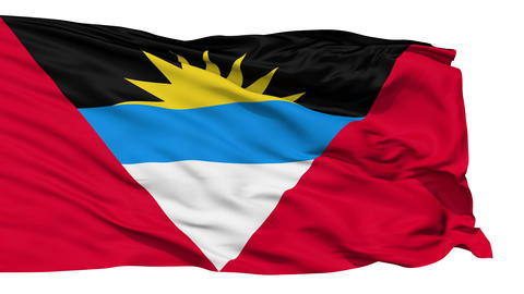 Waving national flag of Antigua and Barbuda Animation