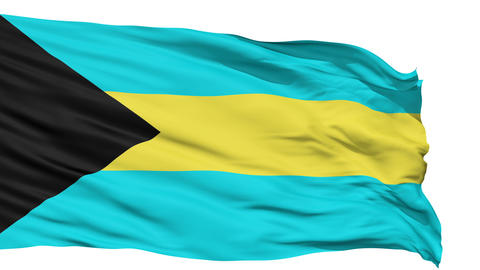 Waving national flag of Bahamas Animation